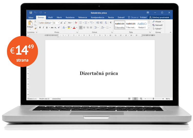 Notebook s dizertačnou prácou