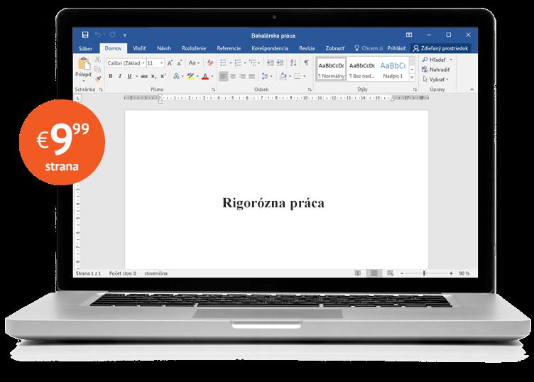Notebook s rigoróznou prácou